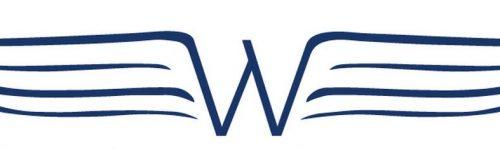 Wings beeldmerk blauw